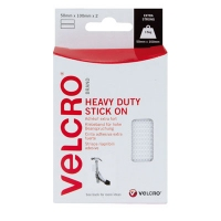 VELCRO® Brand Heavy Duty Stick On Self Adhesive Strips 2 x 50mm x 100mm